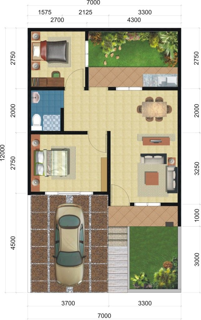 Desain Interior Eksterior Small House Exteriors House Layouts Home Exterior Makeover