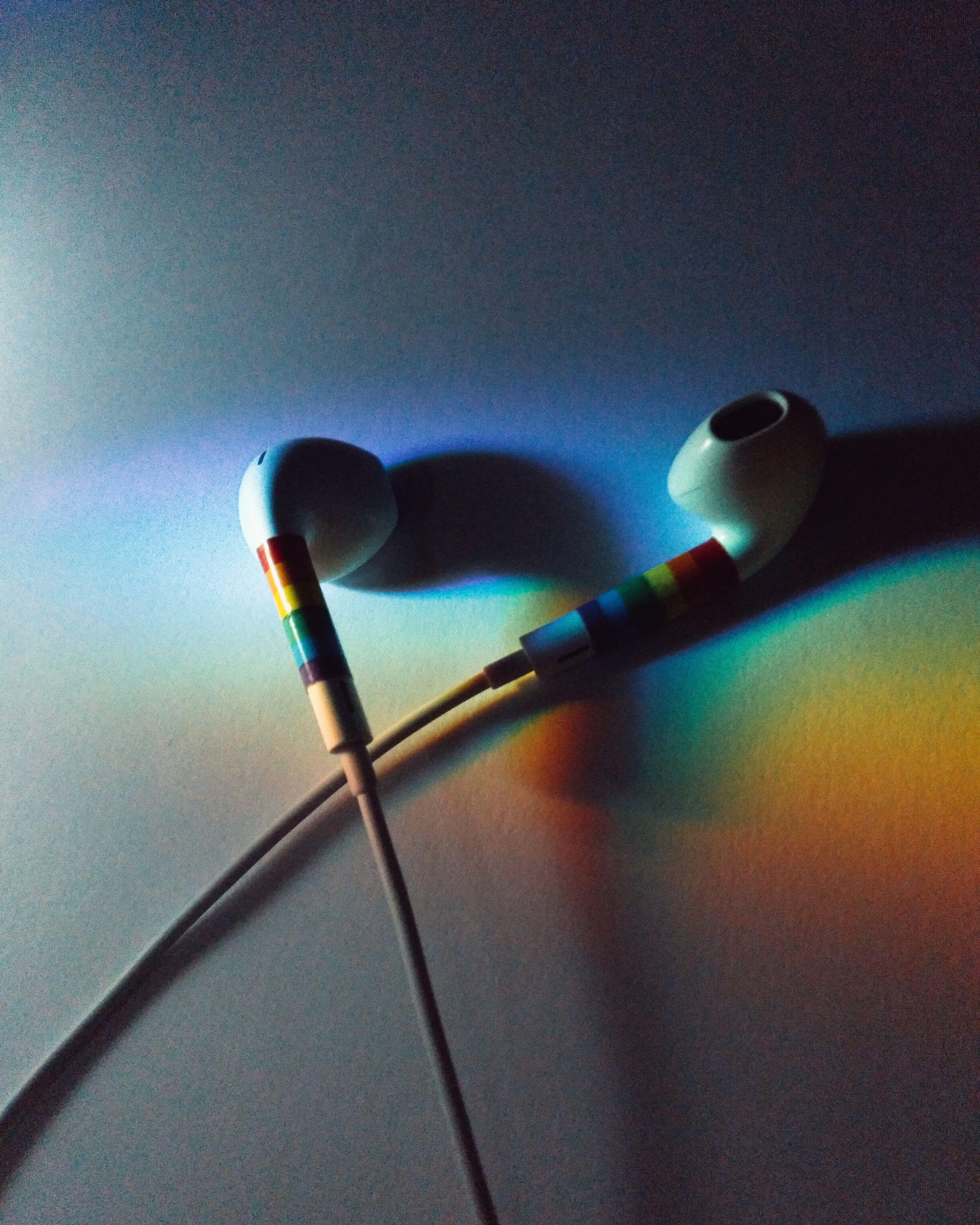 Pride Earphones Rainbow Aesthetic Rain Wallpapers Music Wallpaper