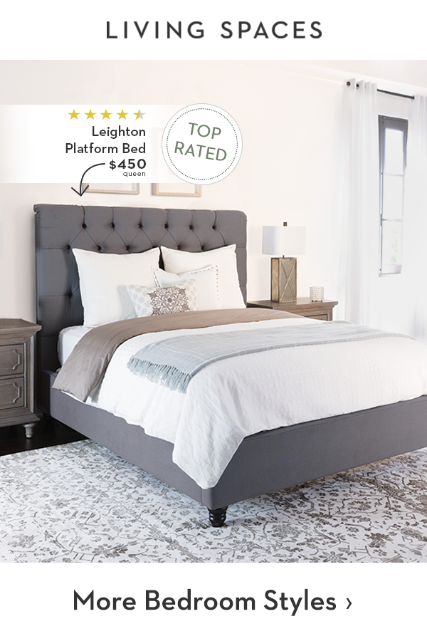 Grey Upholstered Bed Frame With Tufting Detail Interior Design