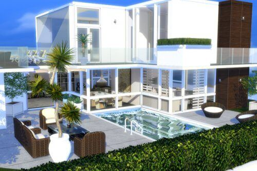 Citylife luxury penthouse for the sims 4 the sims 4 for Modern house design the sims 4