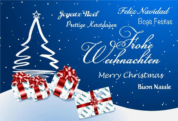 Frohe weihnachten und ein gutes erfolgreiches neues jahr
