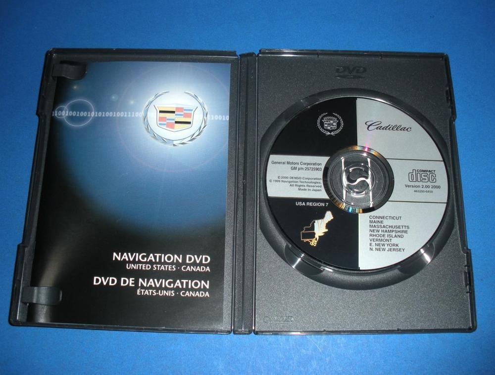 OEM GM Cadillac Navigation System Map Disc North America 25725903 ...