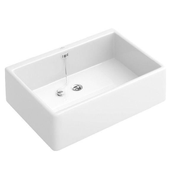 Villeroy \ Boch Onovo Spülbecken ohne Überlauf weiß B 495 T 40 - villeroy und boch waschbecken küche