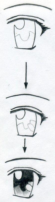 How To Draw Manga Eyes Manga Eyes Drawing Tutorial Easy Drawings