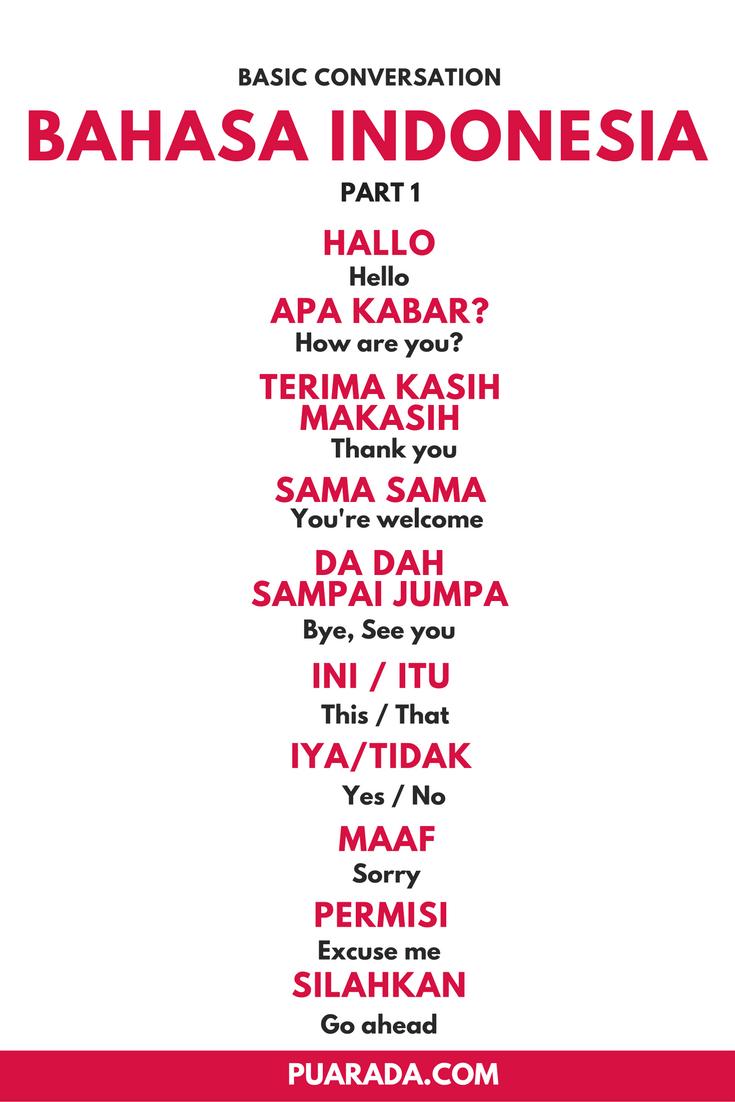 Learn Indonesian Language (Bahasa Indonesia) Free Online