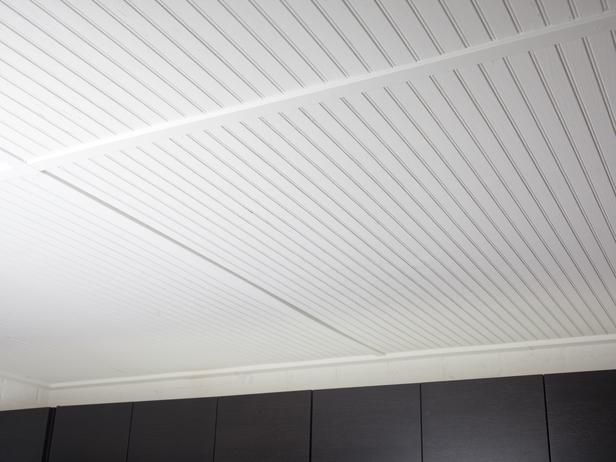 Painted Bead Board For Basement Ceiling Homysweety Com