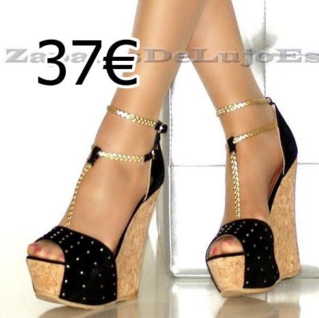 Mujer Tacón Alto punto de Dedo Del Pie Tacón Aguja Sandalias Tira en Tobillo Zapatos De Salón Talla - Piel Sintética Negro, 41