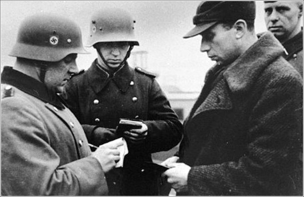 Image result for nazi checking documents