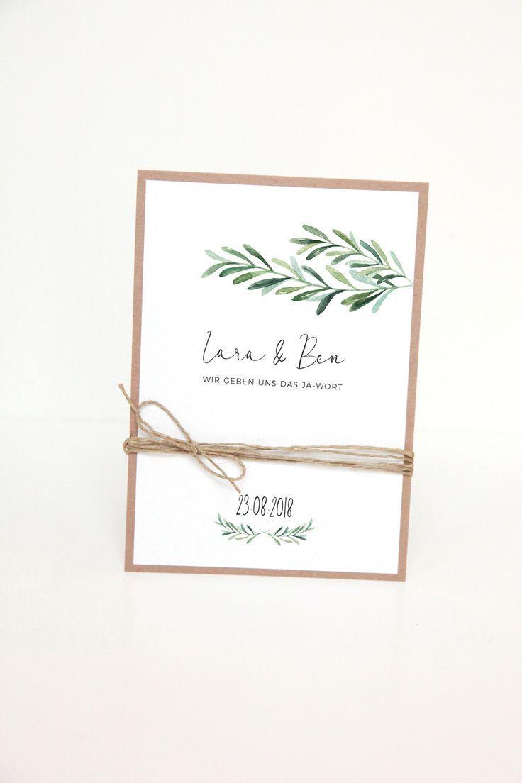 Invitation Cards  Wedding Invitation  DIY Kit  Lara & Ben  a unique product by reflect-photographie on DaWanda