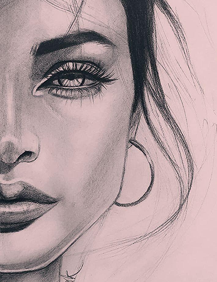 Art Drawings Girl Pencil