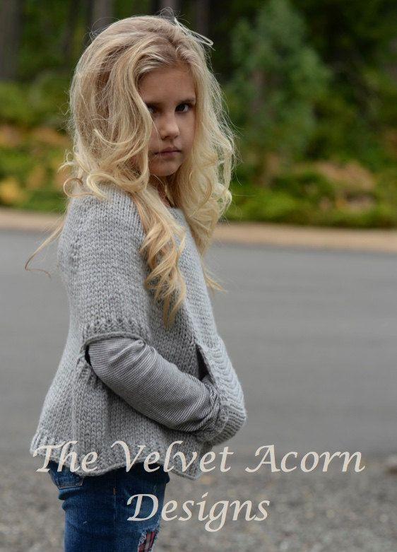 Knitting Pattern  Odila Cape Pullover 2/3 4/5 6/7 8/9