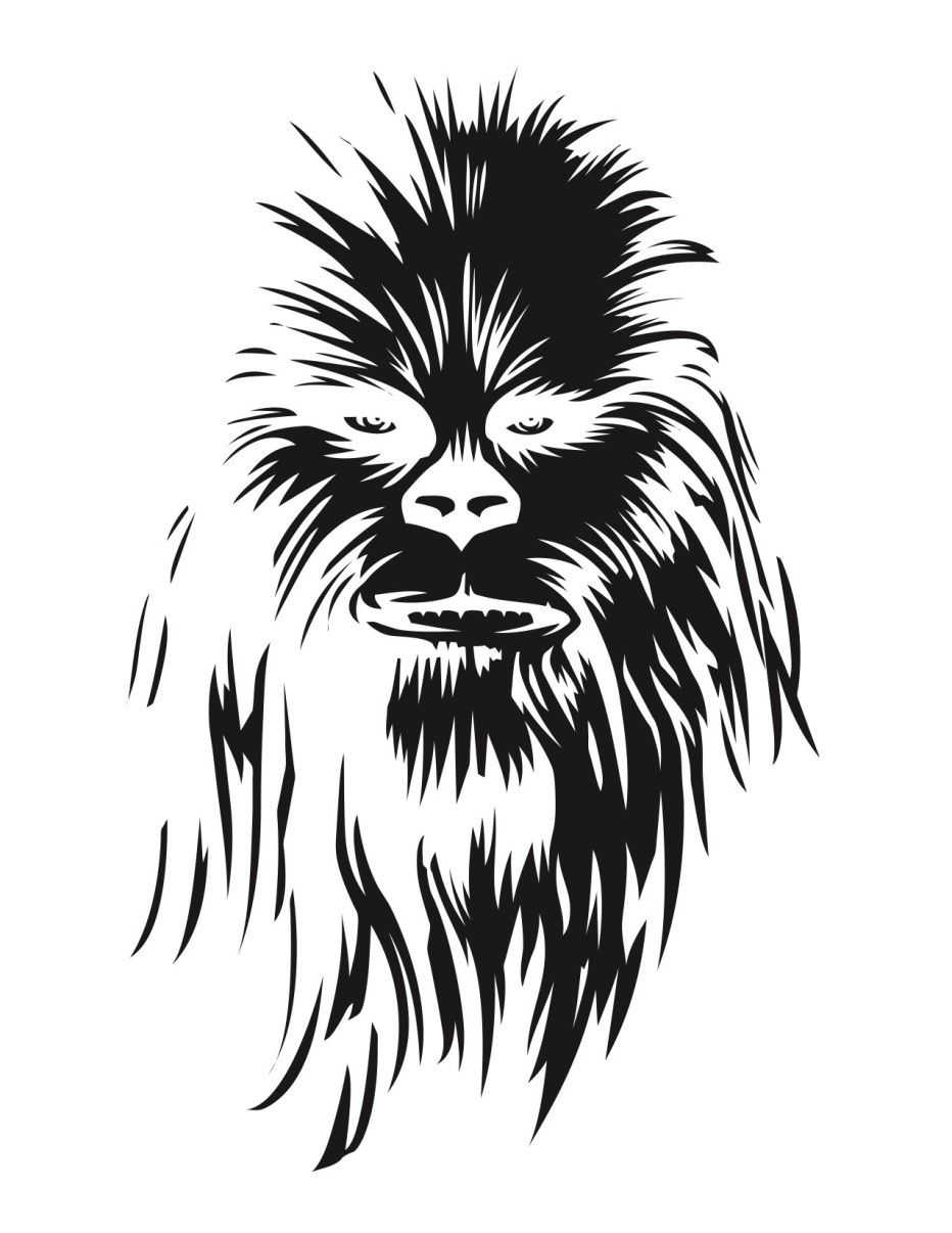 Star-Wars-Chewbacca-Stencil pumpkin carving | Cute Halloween Ideas ...