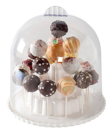 Another great find on #zulily! Cake Pop Stand & Dome Cover Keeper #zulilyfinds