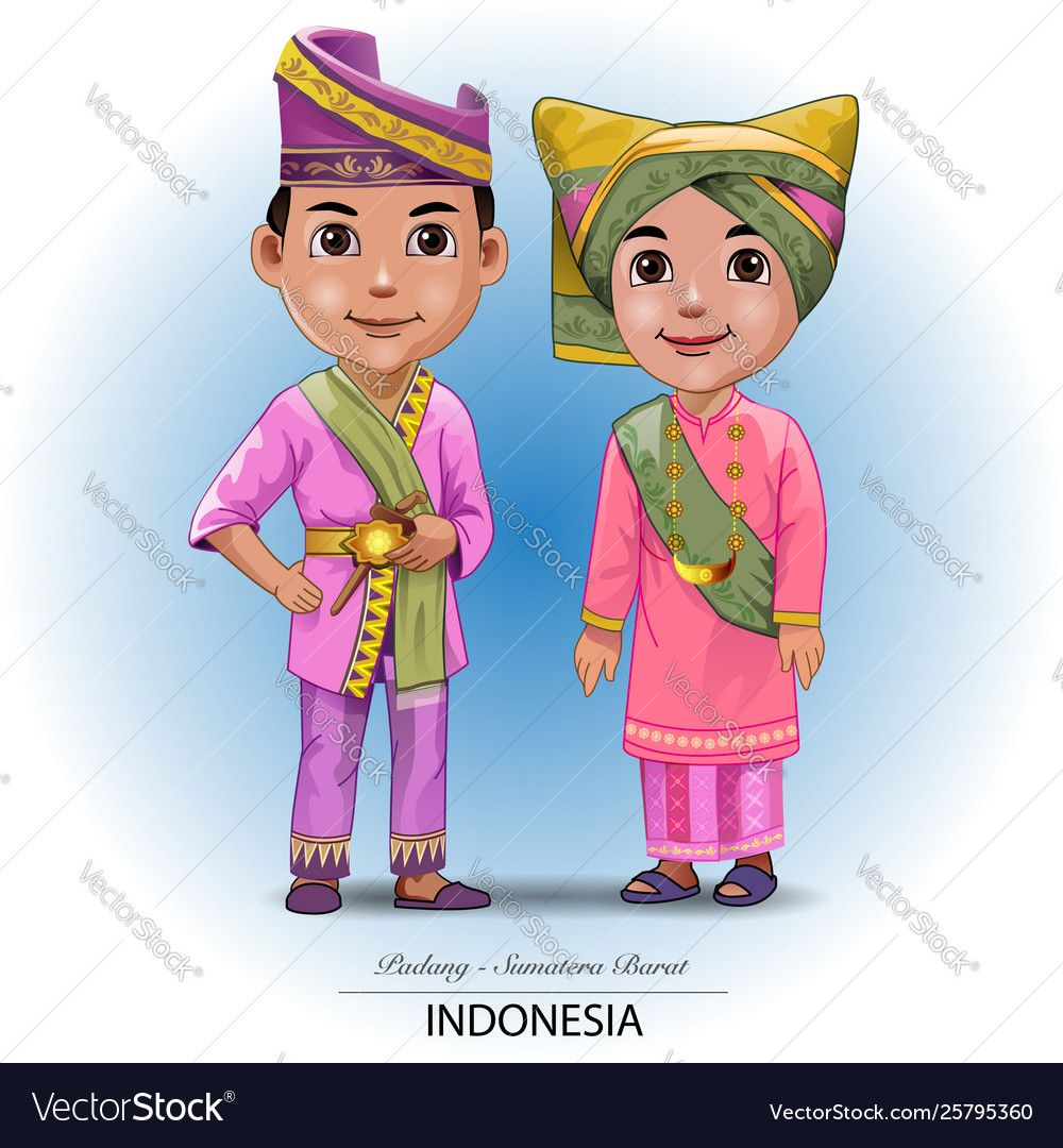 Gambar Kartun Pakaian Adat Kalimantan Selatan