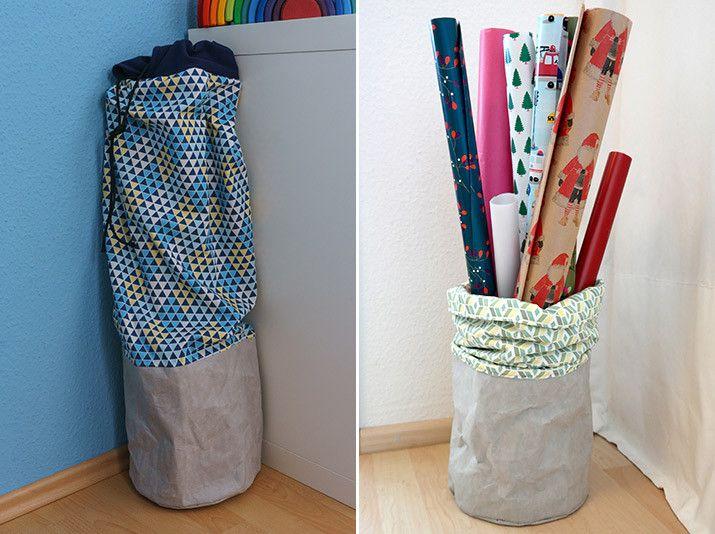 diy anleitung geschenkpapier aufbewahrung tutorials pinterest costura costura bolsos und. Black Bedroom Furniture Sets. Home Design Ideas