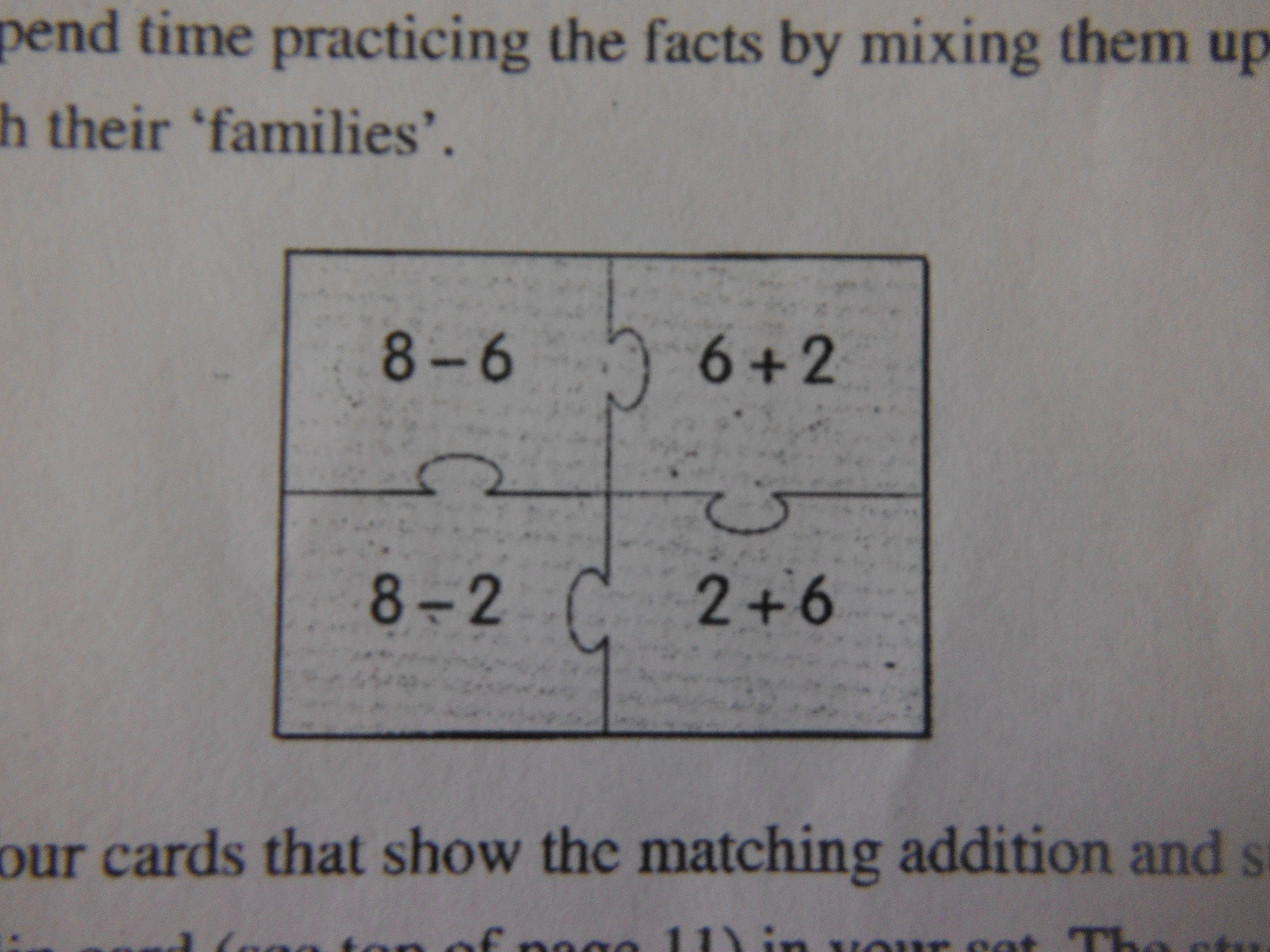 Jigsaw Puzzle Fact Families Teach Students The Inverse Operations For Addition Sbutraction Multipl Student Teaching Fact Families Multiplication And Division Inverse subtraction and addition