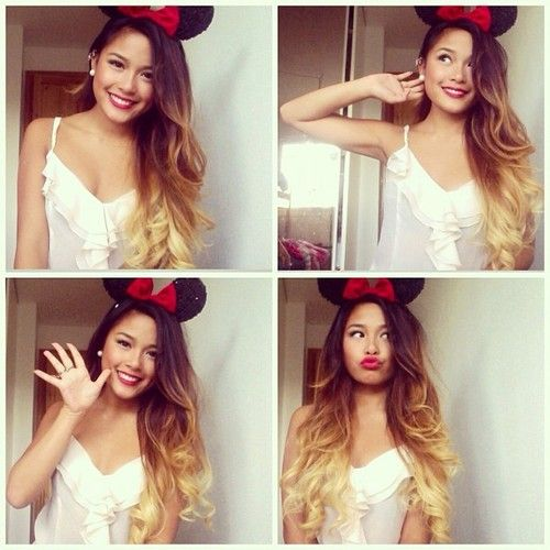 Adorable Minnie! Love the ombre' !