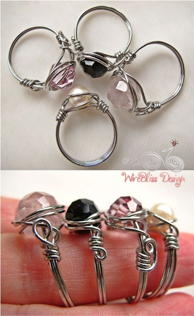 Wire Wrap Jewelry and Tutorials by WireBliss: Simple techniques and designs, stylish, unique and inspirational ideas