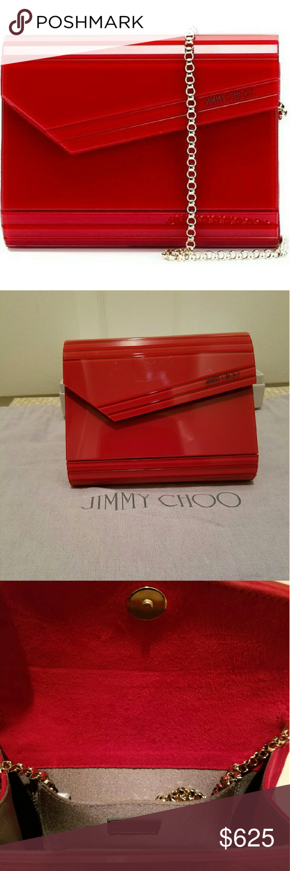 Jimmy Choo Acrylic Clutch Jimmy Choo Acrylic Clutch shoulder bag/red Bags Shoulder Bags