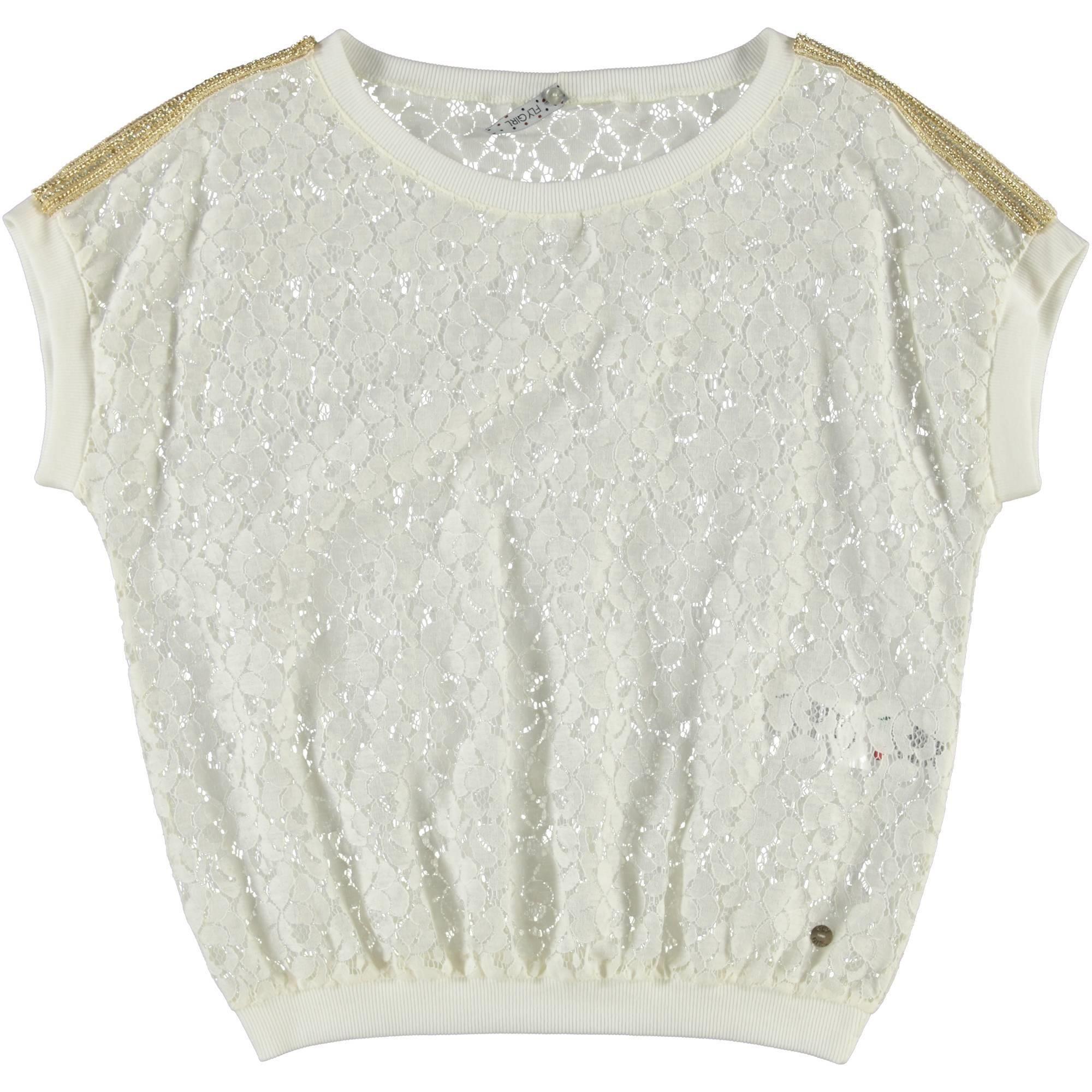 FlyGirl t-shirt in pizzo donna  54,90 scontata del 10% la paghi solo € 49,41 | Nico.it - #nicoit #moda #fashion #fashionista #springsummer #ss15 #spring #summer #newarrivals #newcollection #fashion #love #bestoftheday #lookoftheday #outfitoftheday #picoftheday #lace #tshirt #flygirl