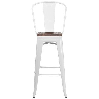 Williston Forge Delores Bar Counter Stool Colour White Seat