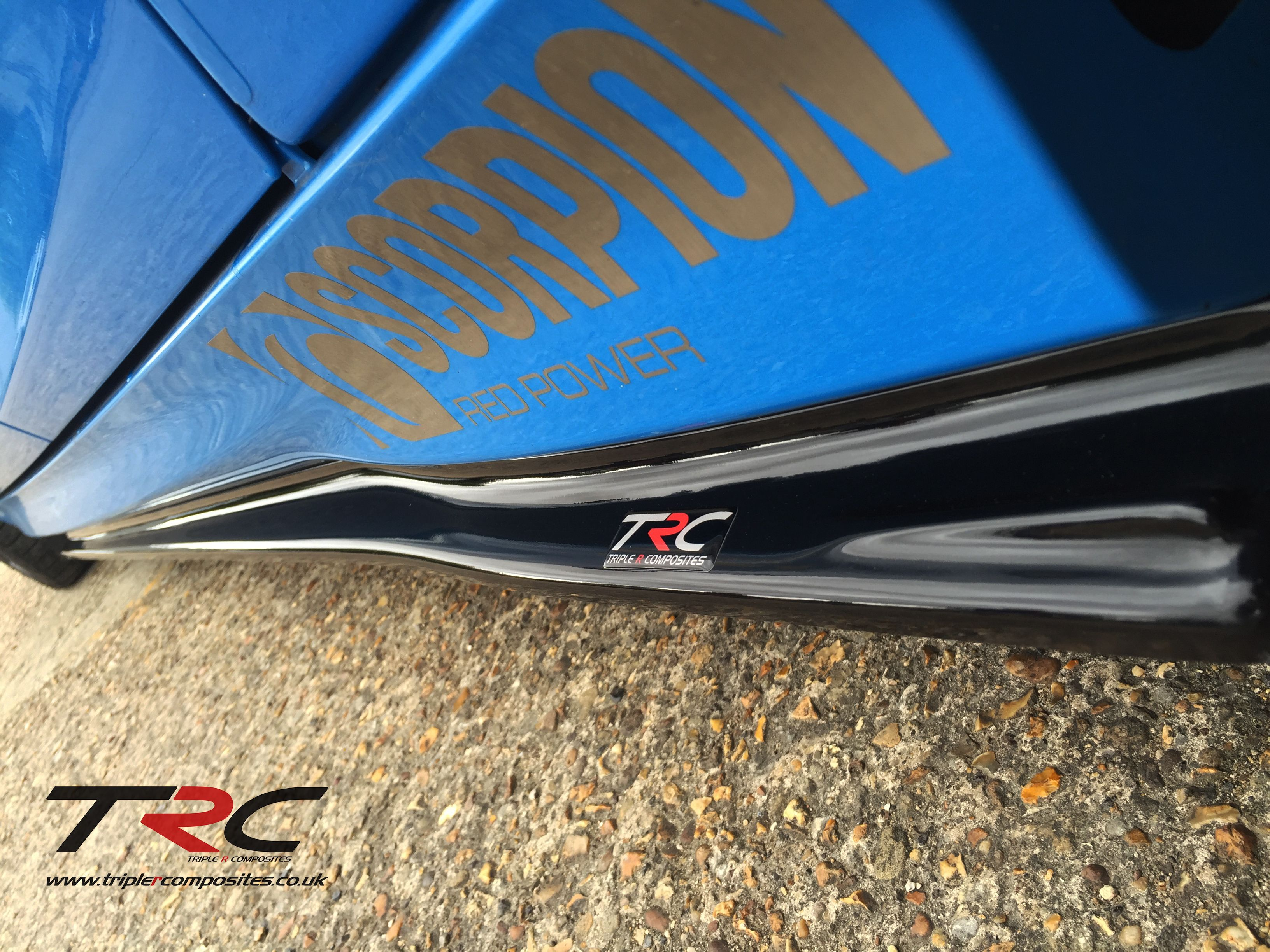 Ford focus rs triple r composites sideskirt splitters scc performance