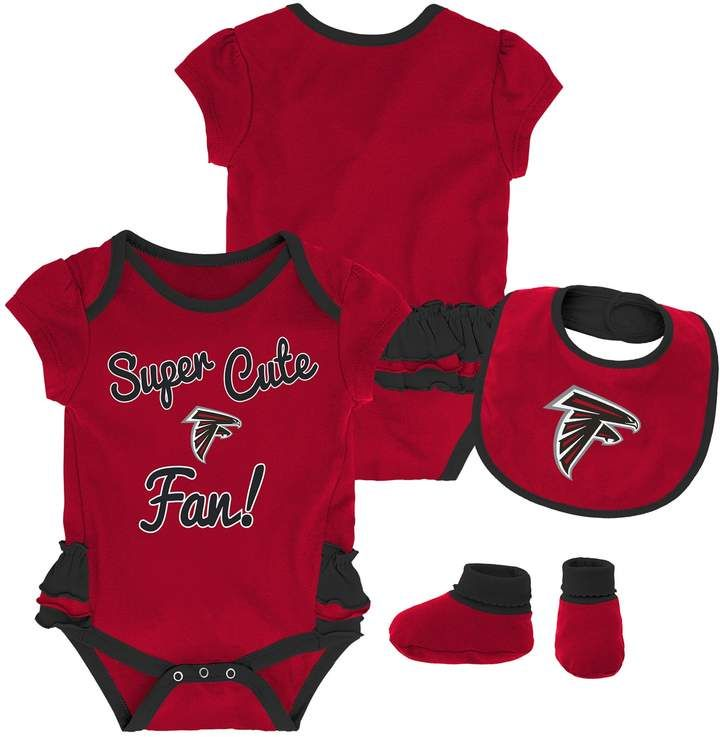 hot sale online 631ca 1c9e0 Baby Girl Atlanta Falcons Mini Trifecta Bodysuit, Bib ...