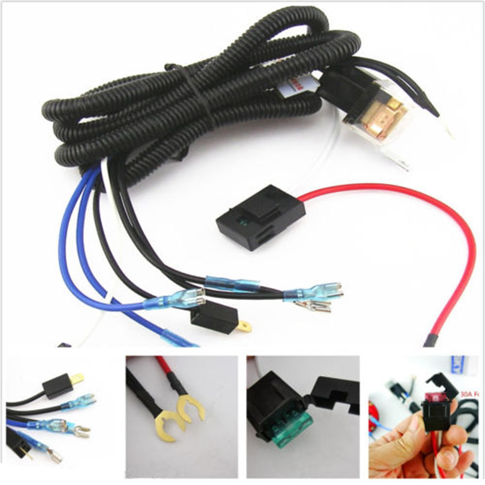 Universal 12v Horn Relay Wiring Harness Kit For Grille Mount Blast Tone Horns Car Truck Relay Fuse High Quality Car Electronics Cars Trucks Car