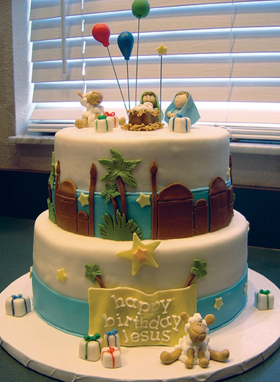 Happy Birthday Jesus Cake Pinteres