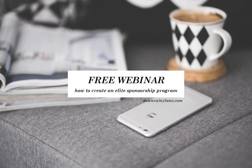 My upcoming free webinar focuses on creating an elite sponsorship program from scratch. Understanding the fundamental basics of a great sponsorship...