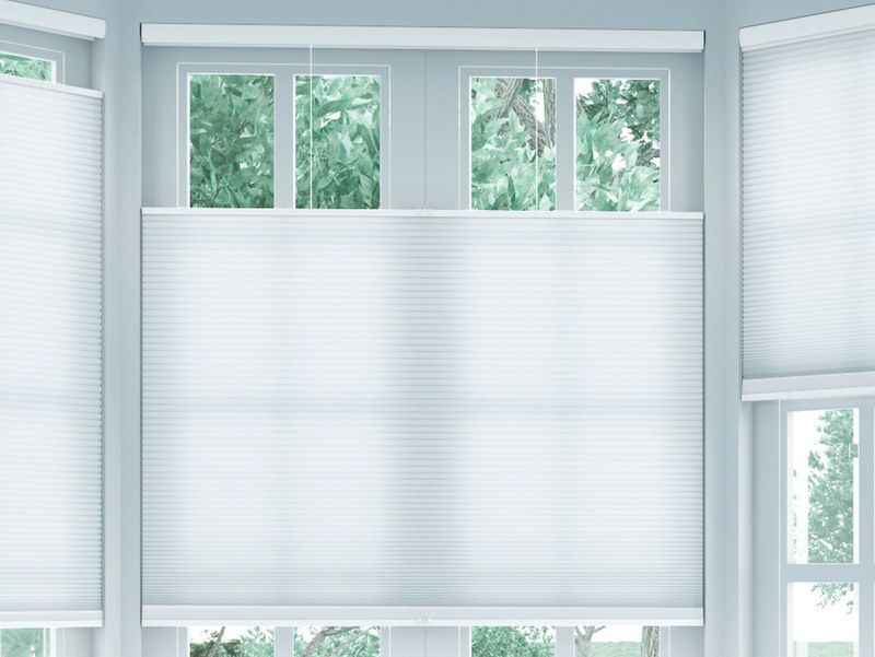 No Cords No Problems These Top Down Bottom Up Honeycomb Shades Are An Awesome Alternative To Traditional Honeycomb Shades Window Shades Bay Window Treatments