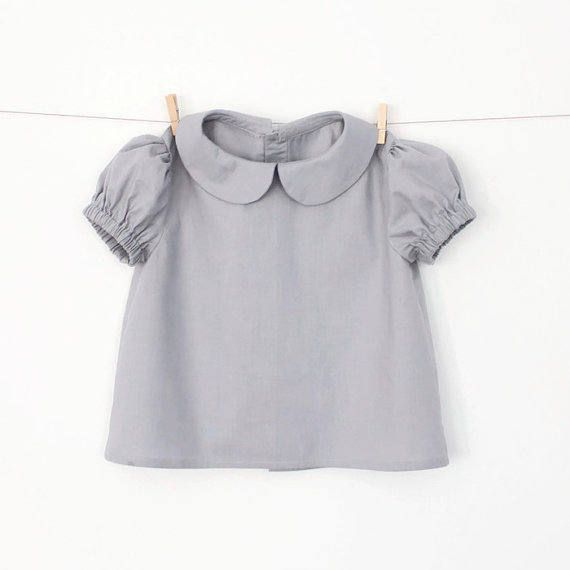Girls Peter Pan Collar Blouse with Puff Sleeves – Pattern PDF Sewing ...