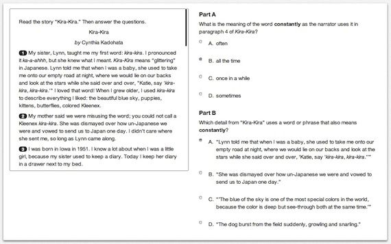 PARCC Releases Fully Functional Sample Test Questions for Common - assessment sample