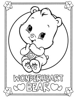 Care Bears Coloring Page Bear Coloring Pages Coloring Books Teddy Bear Coloring Pages
