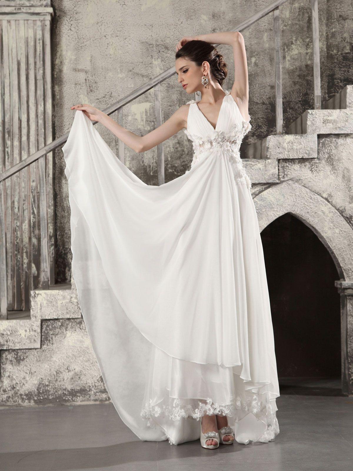 Empire Chiffon Wedding Dress | Wedding dresses | Pinterest | Wedding ...