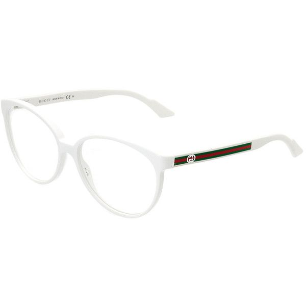 dfcf8b9259 Gucci Women s Gg3148-150232Kt95515 55Mm Optical Frames ( 100) ❤ liked on  Polyvore featuring accessories