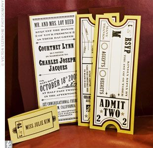 Ticket Themed Rsvp Card To Match The Broadway Theme Broadway