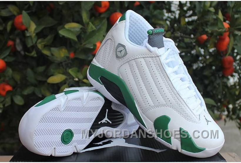 jordan 14 white green