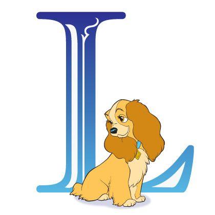 Disney Alphabet - L for Lady | Disney Alphabet Printables | Printables | Disney Family.com