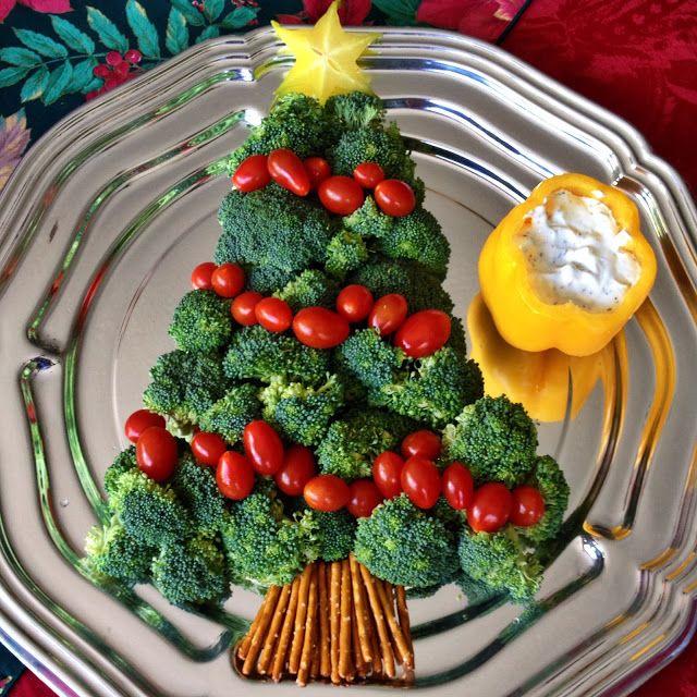 how to make a broccoli christmas tree
