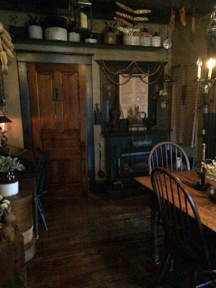 Primitive dining.. | Colonial Decorating | Pinterest