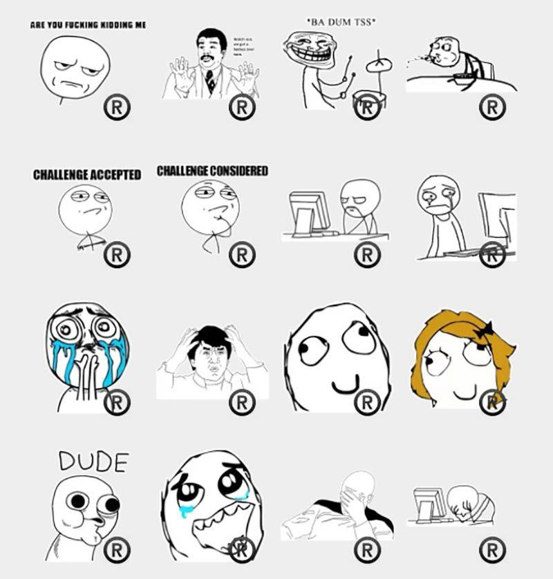 5dbe3facb2f9099b145041ab4484cac6 rage faces stickers set telegram stickers telegram pinterest