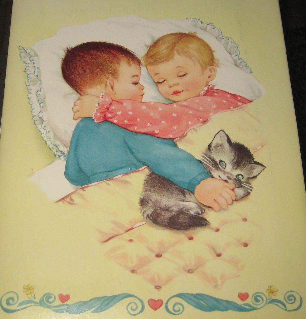4 NURSERY DOLLS Paper Dolls Whitman 1959  [Isa]