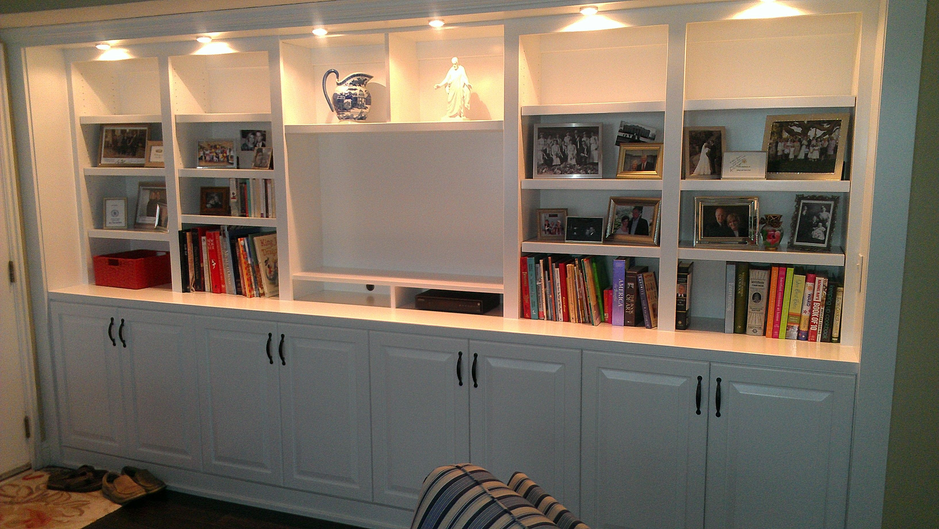 Built In Entertainment Centers Gorgeous White Lacquer Center
