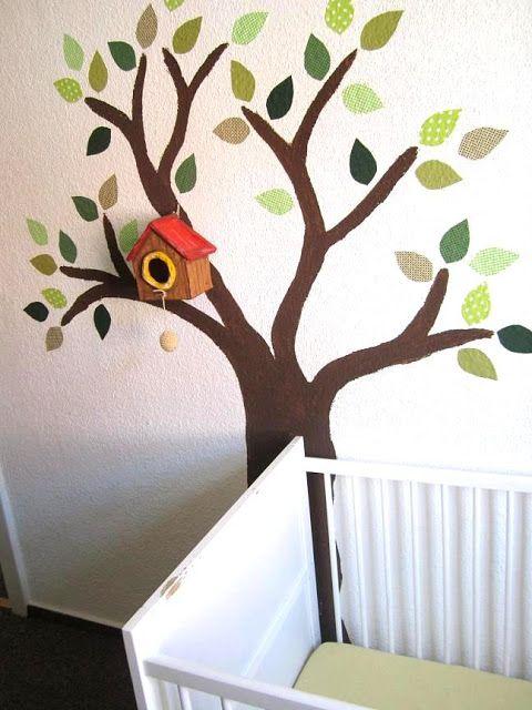 Ordinary Einfache Dekoration Und Mobel Wandmotive Kreative Wandverschoenerung #9: Blendwerk: Es Wächst Ein Baum Im Kinderzimmer