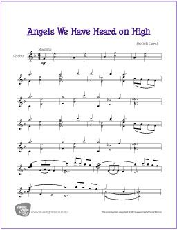 angels we have heard on high free sheet music for jazz guitar solo guitar sheet music. Black Bedroom Furniture Sets. Home Design Ideas