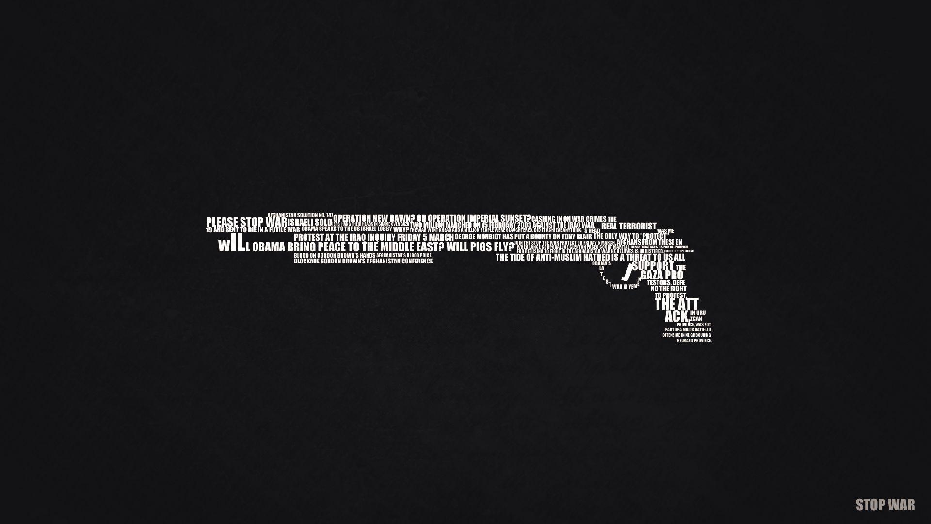 Stop War Text Art Full Hd Desktop Wallpapers Minimalist Wallpaper Minimalist Desktop Wallpaper