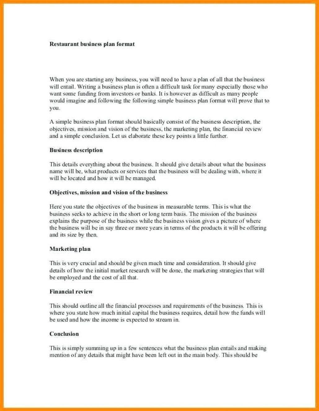 Business Proposal Template For Restaurant Business Proposal
