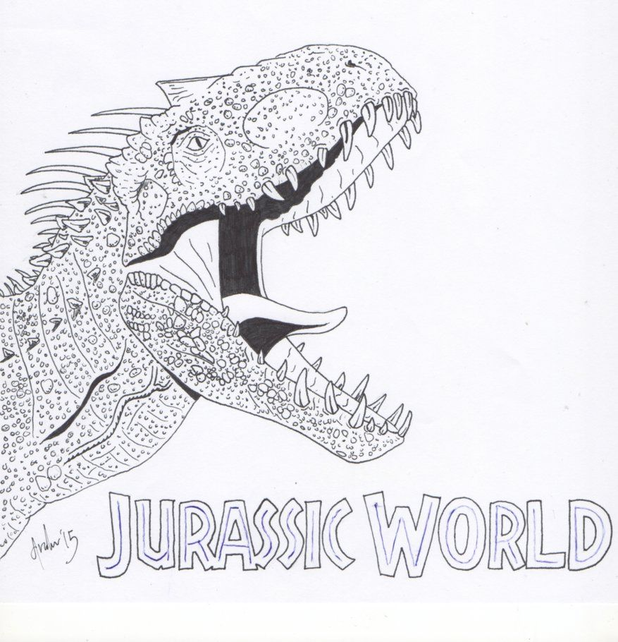 Indominus Rex Dinosaur Coloring Pages Dinosaur Coloring Jurassic World