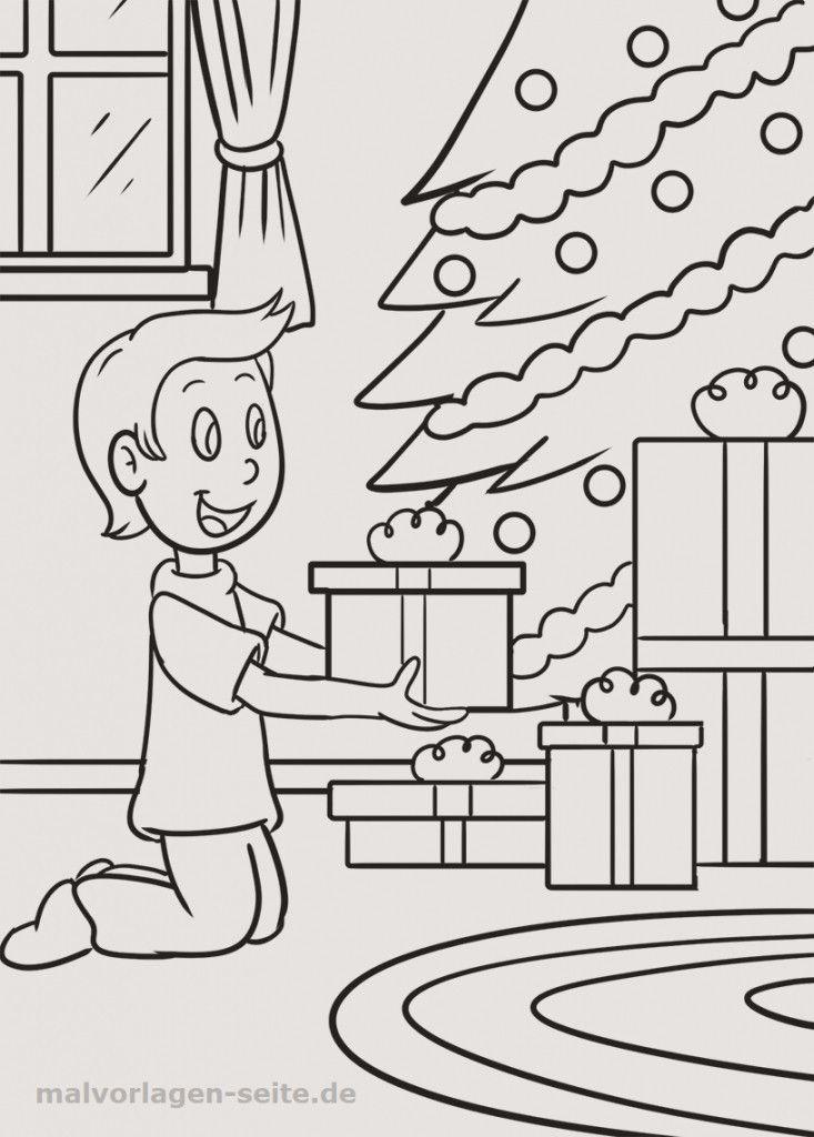 50 frisch ausmalbilder weihnachten tannenbaum mit
